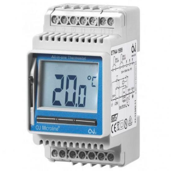 Терморегулятор на DIN-шину OJ ETN4-1999