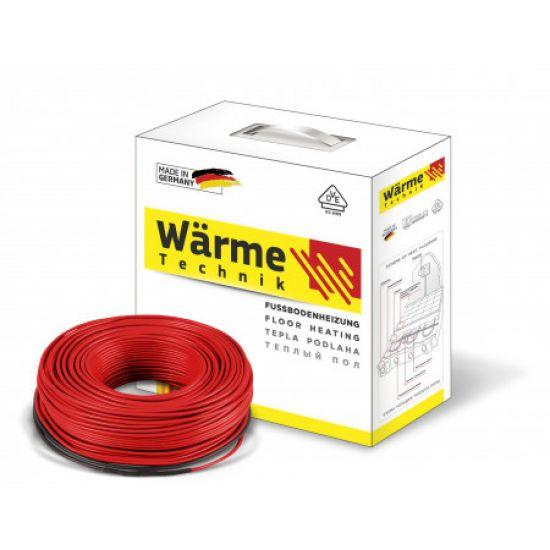 Wärme Twin flex cable – немецкий электрический двухжильный тонкий нагревательный кабель для теплого пола 600 W